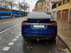 Back of Tesla Model X 90D 90 kWh AWD Single Speed, 423ps, 2017