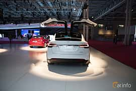 Bak av Tesla Model X 100D 100 kWh AWD Single Speed, 423ps, 2018 på Paris Motor Show 2018
