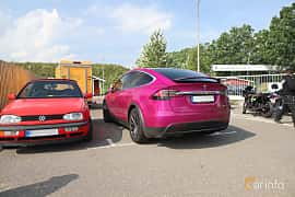 Back/Side of Tesla Model X Long Range  Single Speed, 423ps, 2019 at Autoropa Racing day Knutstorp 2019