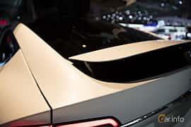 Närbild av Tesla Model X 100D 100 kWh AWD Single Speed, 423ps, 2018 på Paris Motor Show 2018