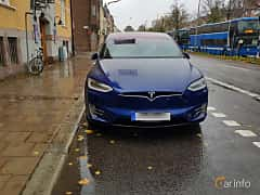 Front  of Tesla Model X 90D 90 kWh AWD Single Speed, 423ps, 2017