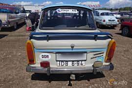 Back of Trabant 601 Limousine 0.6 Manual, 26ps, 1987 at Riksettanrallyt 2015