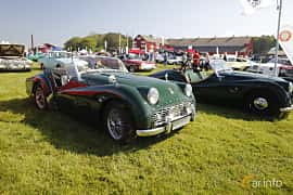 Front/Side  of Triumph TR3 2.0 Manual, 97ps, 1956 at Tjolöholm Classic Motor 2018