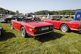 Back/Side of Triumph TR6 2.5 Manual, 106ps, 1973 at Tjolöholm Classic Motor 2018