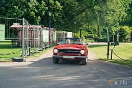Front  of Triumph TR6 2.5 Manual, 150ps, 1969 at Ronneby Nostalgia Festival 2019