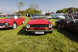 Front  of Triumph TR6 2.5 Manual, 106ps, 1973 at Tjolöholm Classic Motor 2018