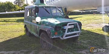 Front/Side  of UAZ 469 2.5 4WD Manual, 75ps, 1971 at Old Car Land no.1 2019