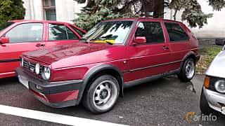 Front/Side  of Volkswagen Golf 3-door 1.6 TD Manual, 60ps, 1989 at Old Car Land no.2 2018