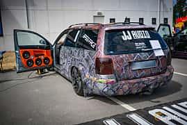 Bak/Sida av Volkswagen Passat Variant 1.9 TDI 4Motion Manual, 130ps, 2004 på Biltema Meet, Växjö 2018