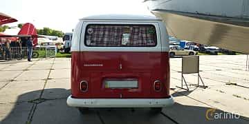Back of Volkswagen Transporter 1600 Minibus 1.6 Manual, 48ps, 1970 at Old Car Land no.1 2019