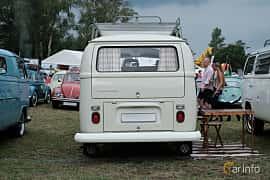 Back of Volkswagen Transporter 1600 Minibus 1.6 Manual, 48ps, 1968 at West Coast Bug Meet 2019