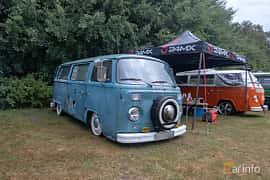 Front/Side  of Volkswagen Transporter 1600 Minibus 1.6 Manual, 50ps, 1975 at West Coast Bug Meet 2019