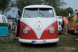 Front  of Volkswagen Transporter 1200 Minibus 1.2 Manual, 34ps, 1960 at West Coast Bug Meet 2019
