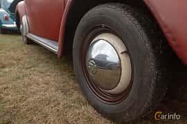 Close-up of Volkswagen 1200 1.2 Manual, 30ps, 1959 at West Coast Bug Meet 2019