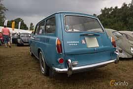Back/Side of Volkswagen 1500 Variant 1.5 Manual, 45ps, 1963 at West Coast Bug Meet 2019