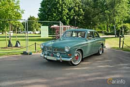 Front/Side  of Volvo Amazon 121 P130 1.8 Manual, 68ps, 1962 at Ronneby Nostalgia Festival 2019