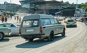 Back/Side of Volvo 145 Express 2.0 Manual, 82ps, 1971 at Stockholm Vintage & Sports Car meet 2019