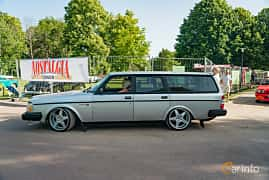Side  of Volvo 245 2.1 Turbo Manual, 155ps, 1985 at Ronneby Nostalgia Festival 2019