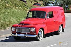 Fram/Sida av Volvo P210 Panel Van 1.8 Manual, 75ps, 1966 på Cruising Lysekil 2019