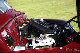 Engine compartment  of Volvo PV444DS 1.4 B4B Manual, 44ps, 1953 at Tjolöholm Classic Motor 2018