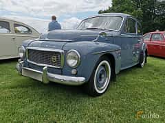 Front/Side  of Volvo PV544A 1.6 Manual, 60ps, 1960 at Sofiero Classic 2019