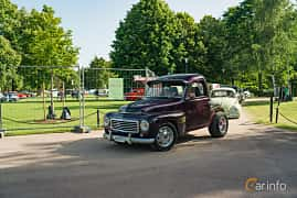Front/Side  of Volvo PV445 1.8 Manual, 60ps, 1960 at Ronneby Nostalgia Festival 2019