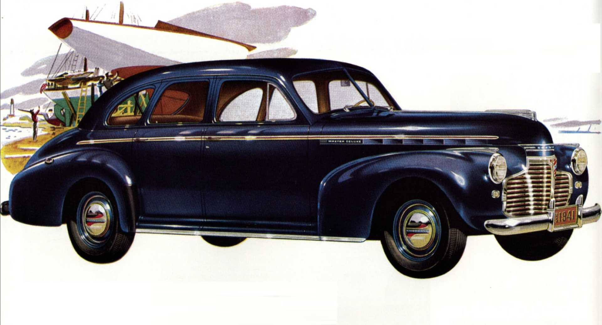 Chevrolet Master Deluxe Sport Sedan 3.5 Manual, 91hp, 1941