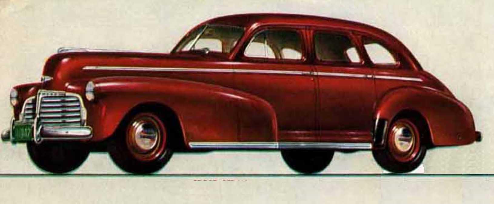 Chevrolet Master Deluxe Sport Sedan 3.5 Manual, 91hp, 1942