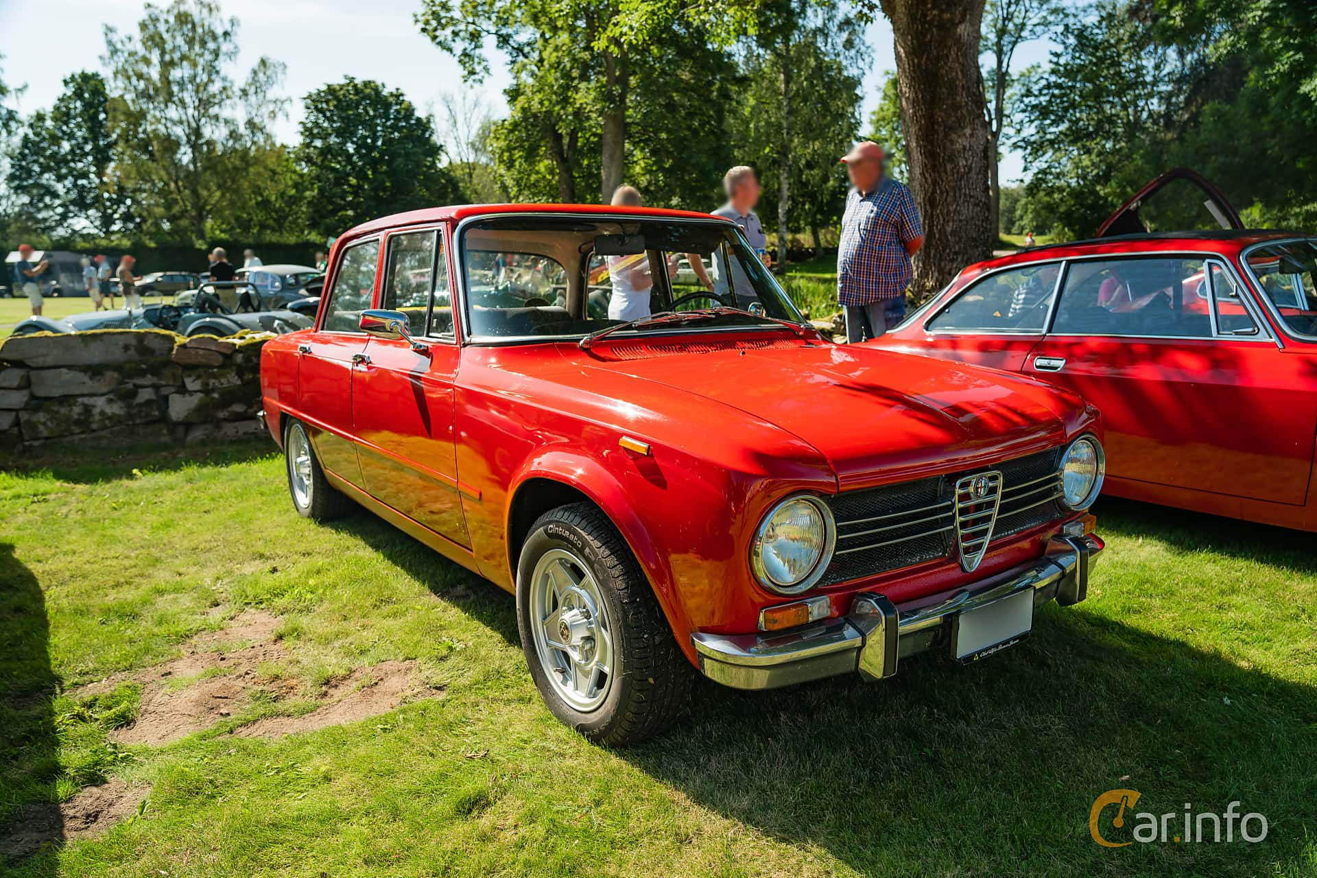 Front/Side  of Alfa Romeo Giulia 1300 Ti 1.3 Manual, 83ps, 1969 at Sportbilsklassiker Stockamöllan 2019