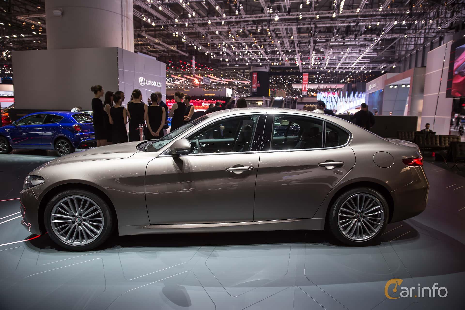 Alfa Romeo Giulia Side Geneva Motor Show