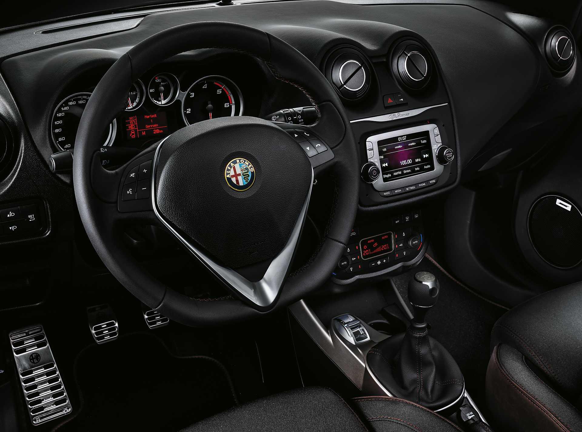 Interior of Alfa Romeo Mito 2015