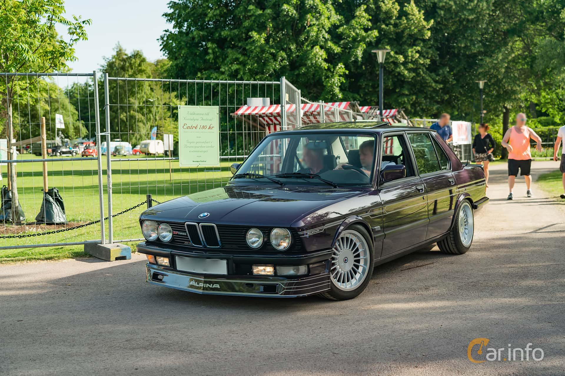 Front/Side  of ALPINA B7 Turbo / 1  Manual, 300ps, 1986 at Ronneby Nostalgia Festival 2019