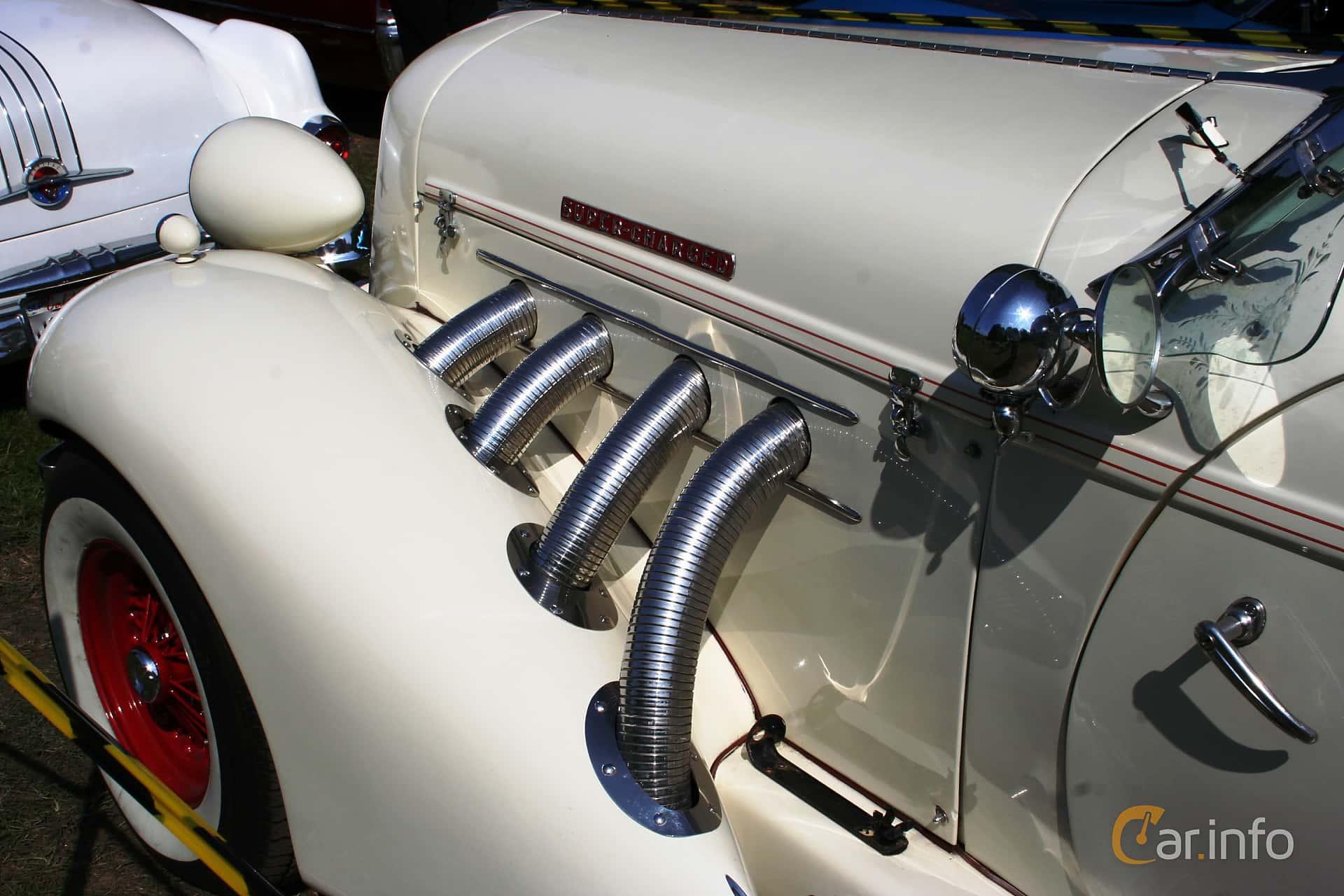 Auburn Model 8-851 Speedster 4.6 Manual, 152hp, 1936 at Hässleholm Power Start of Summer Meet 2016