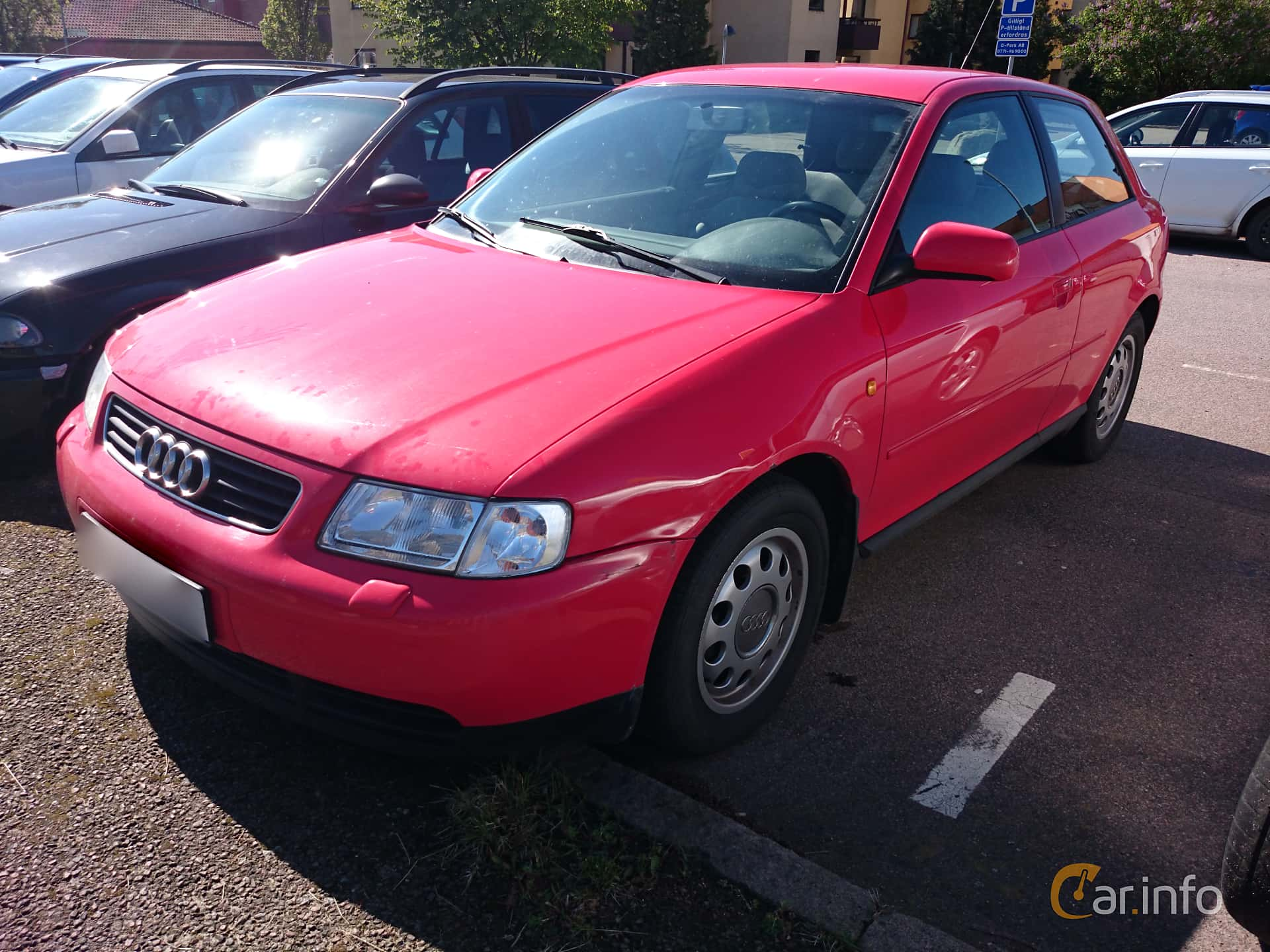 Front/Side of Audi A3 3-door 1.6 Manual, 101ps, 1997