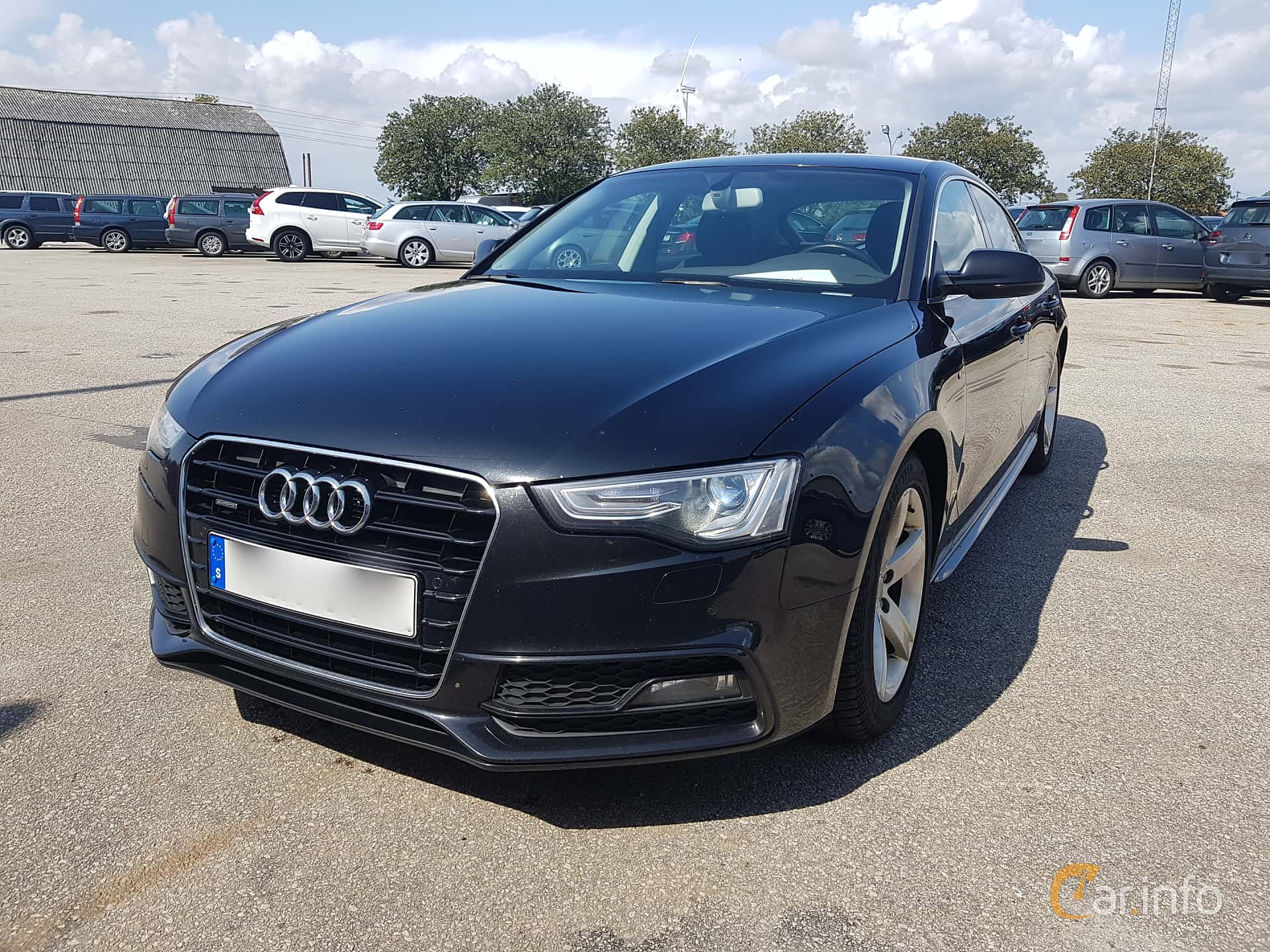Front/Side  of Audi A5 Sportback 2.0 TDI clean diesel quattro  S Tronic, 190ps, 2016