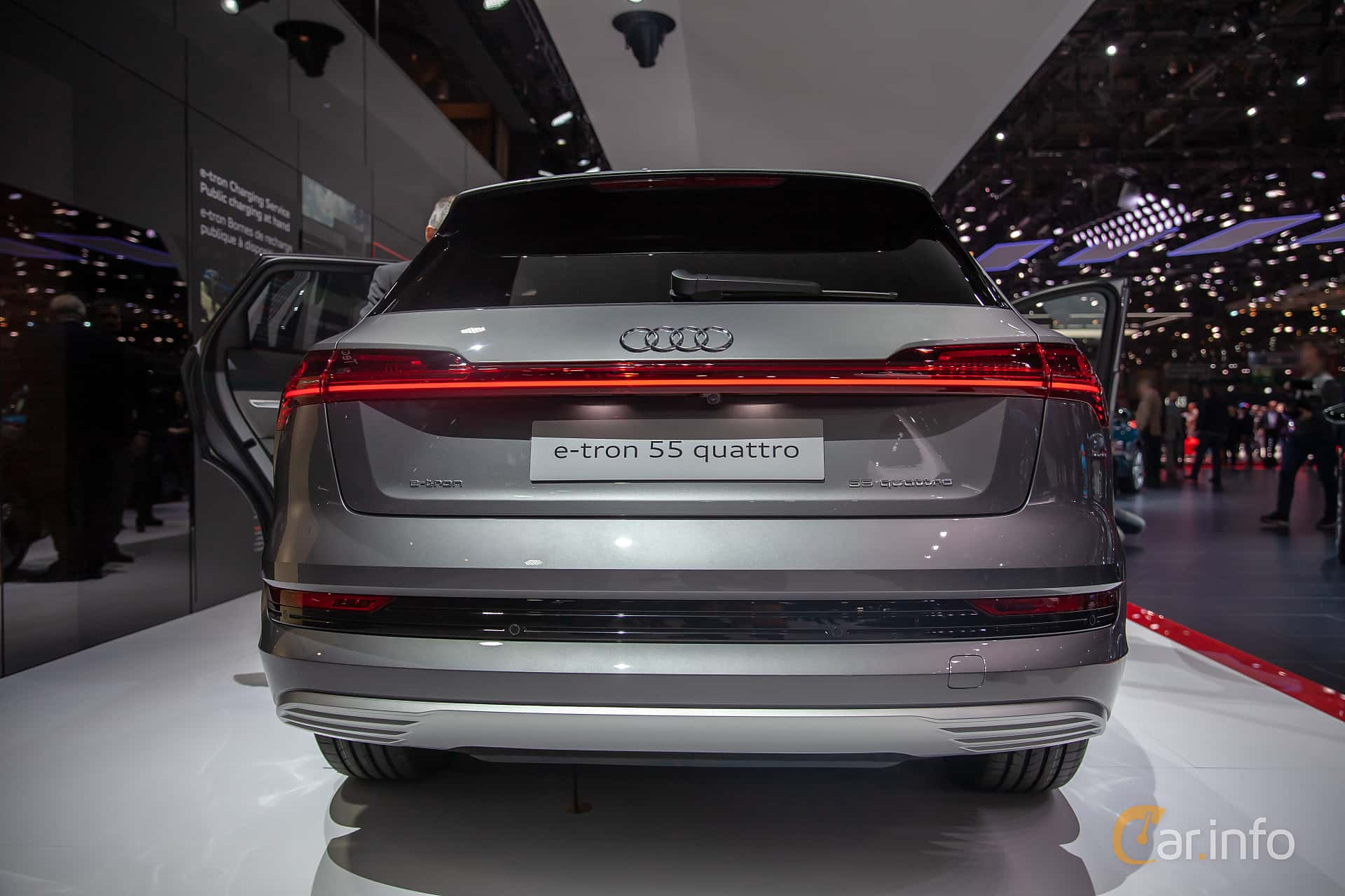 Back of Audi e-tron 55 quattro  Single Speed, 408ps, 2019 at Geneva Motor Show 2019