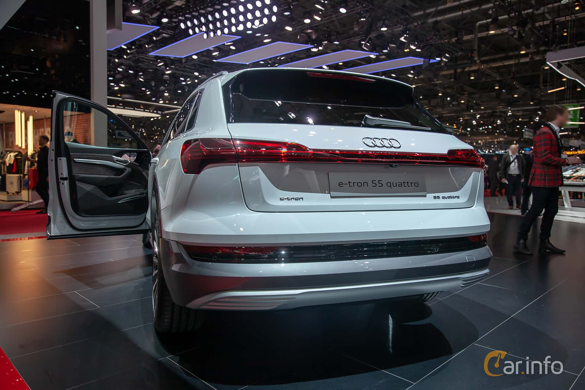 Back/Side of Audi e-tron 55 quattro  Single Speed, 408ps, 2019 at Geneva Motor Show 2019