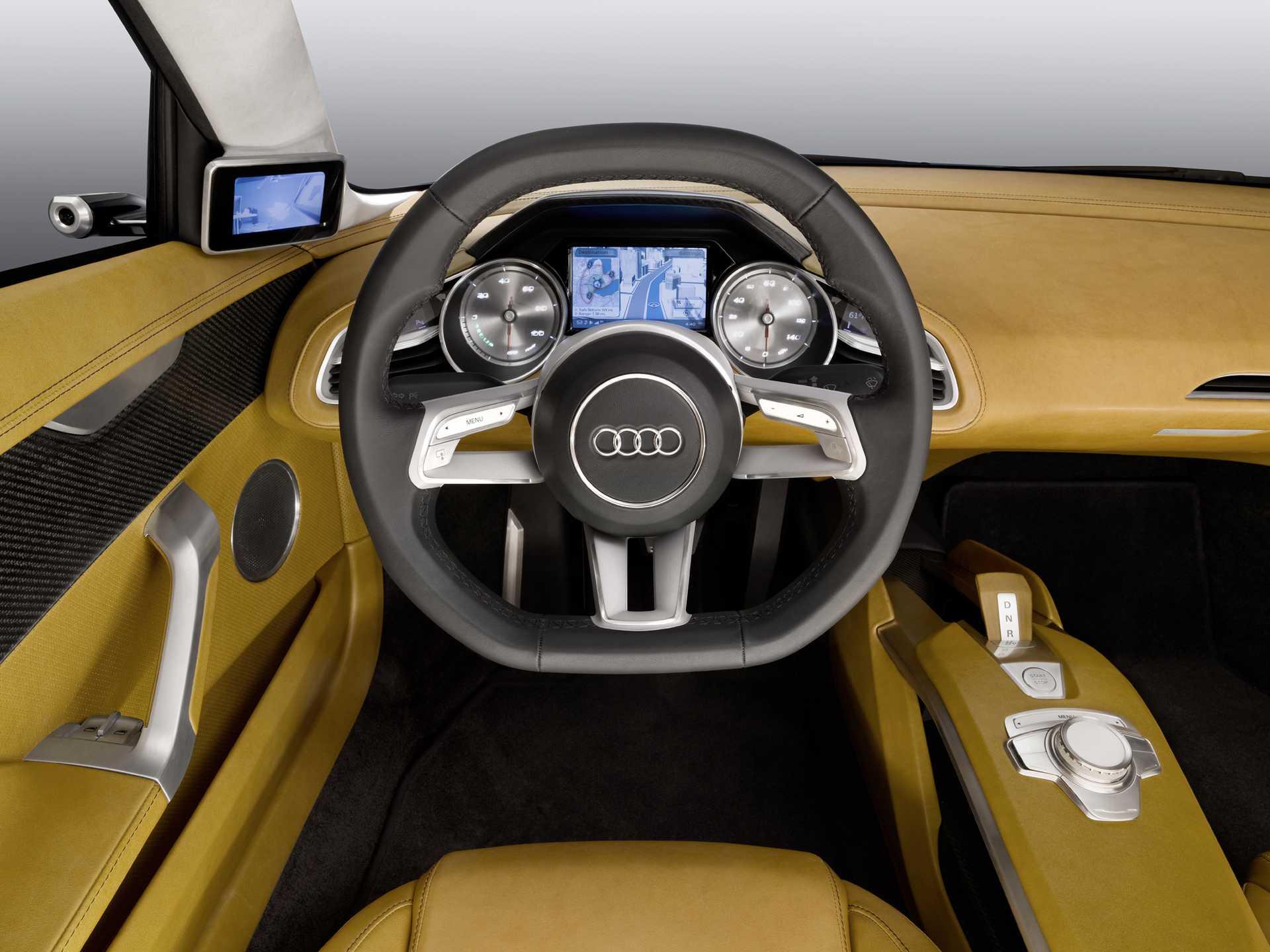 Audi e-Tron Detroit Showcar Electric Single Speed, 204hp, 2010