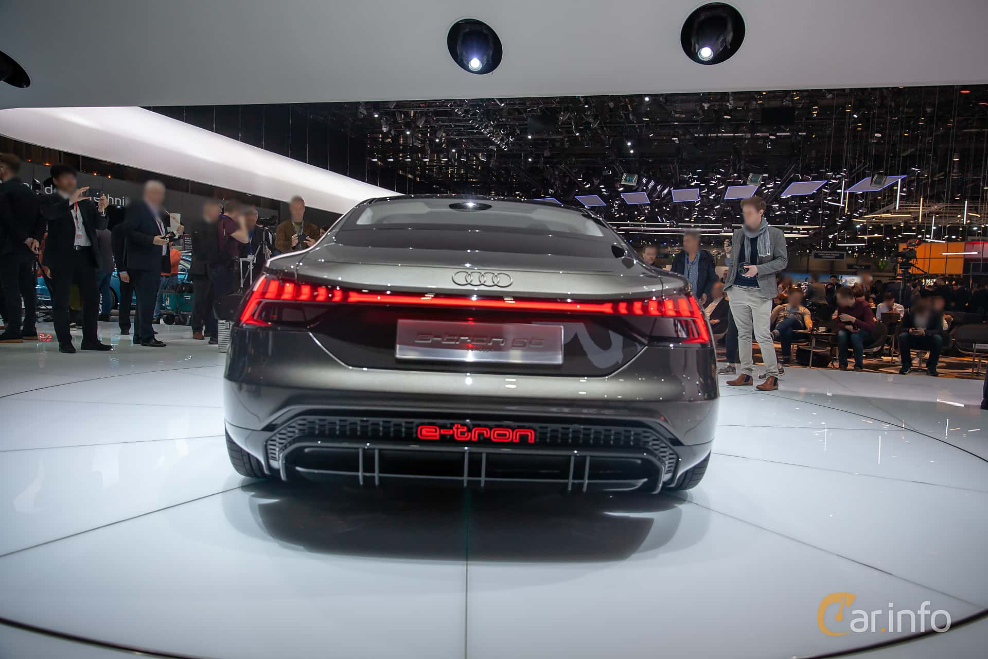 Back of Audi e-tron GT 90 kWh quattro Single Speed, 590ps, 2019 at Geneva Motor Show 2019