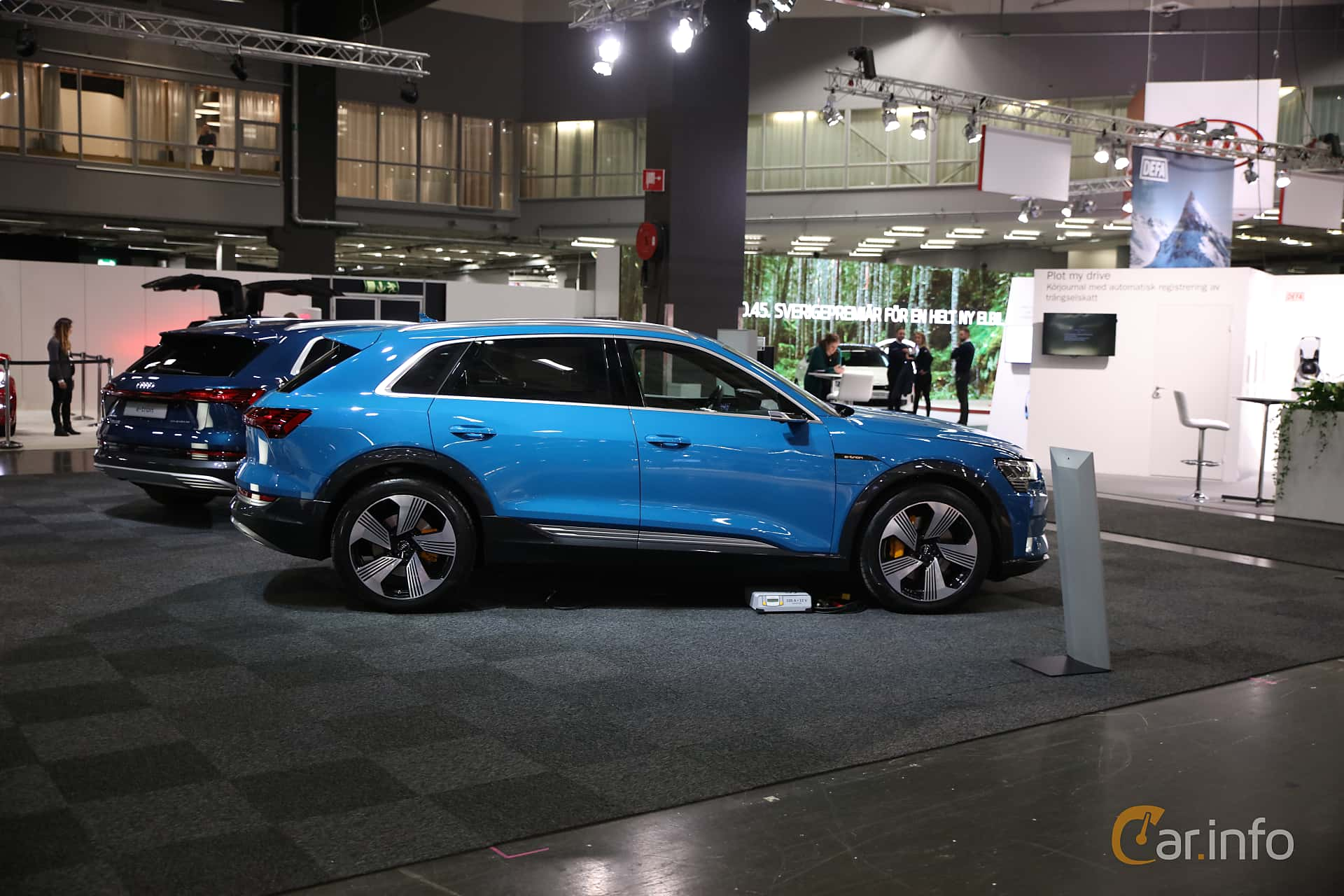 Side  of Audi e-tron 55 quattro  Single Speed, 408ps, 2019 at eCar Expo Göteborg 2018