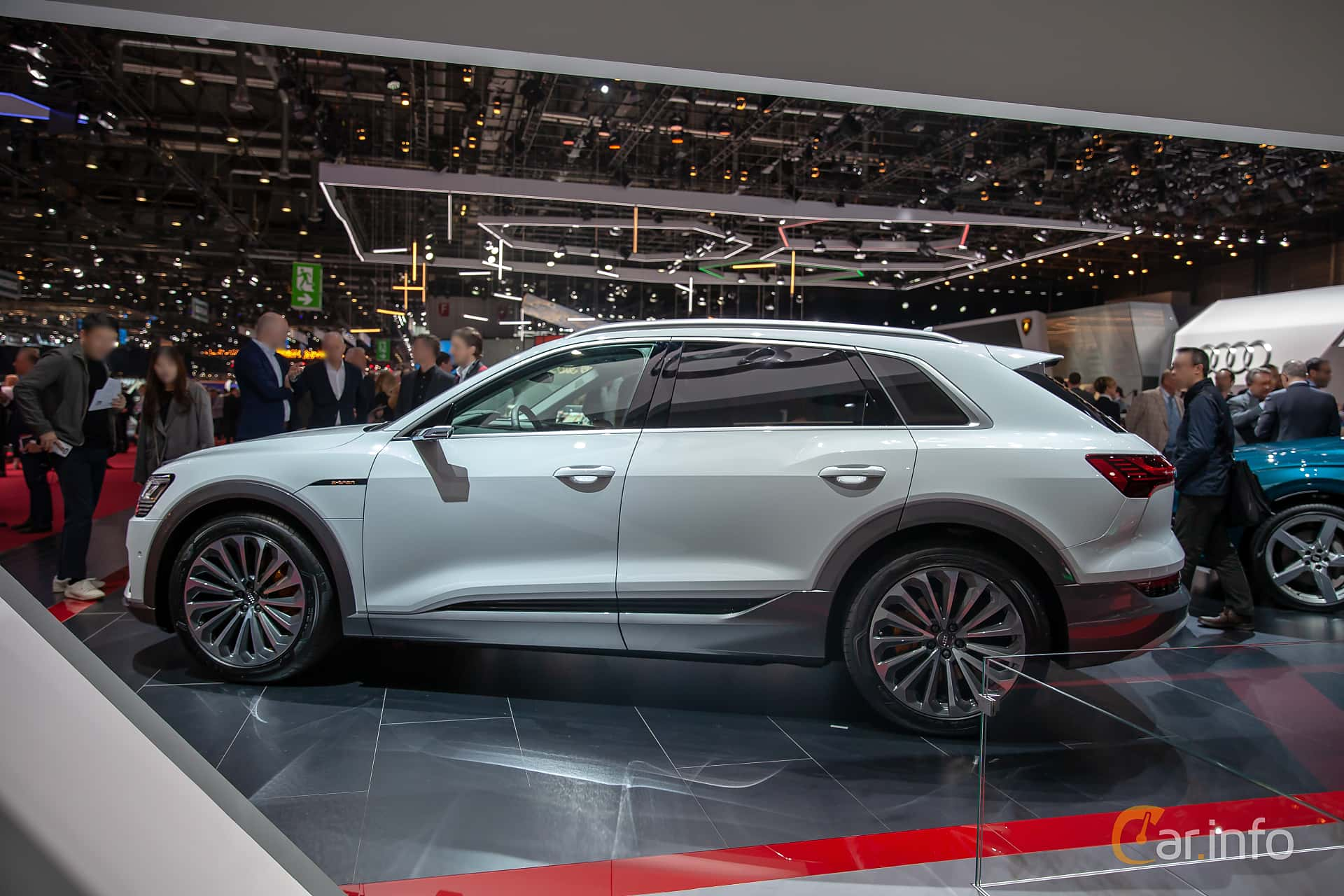 Side  of Audi e-tron 55 quattro  Single Speed, 408ps, 2019 at Geneva Motor Show 2019