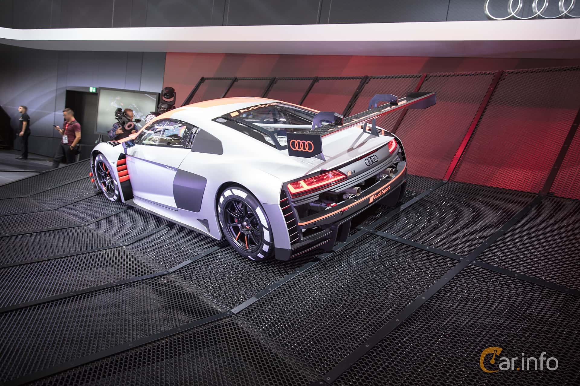 Audi R8 LMS 5.2 V10 FSI quattro Sequential, 585hp, 2018 at Paris Motor Show 2018