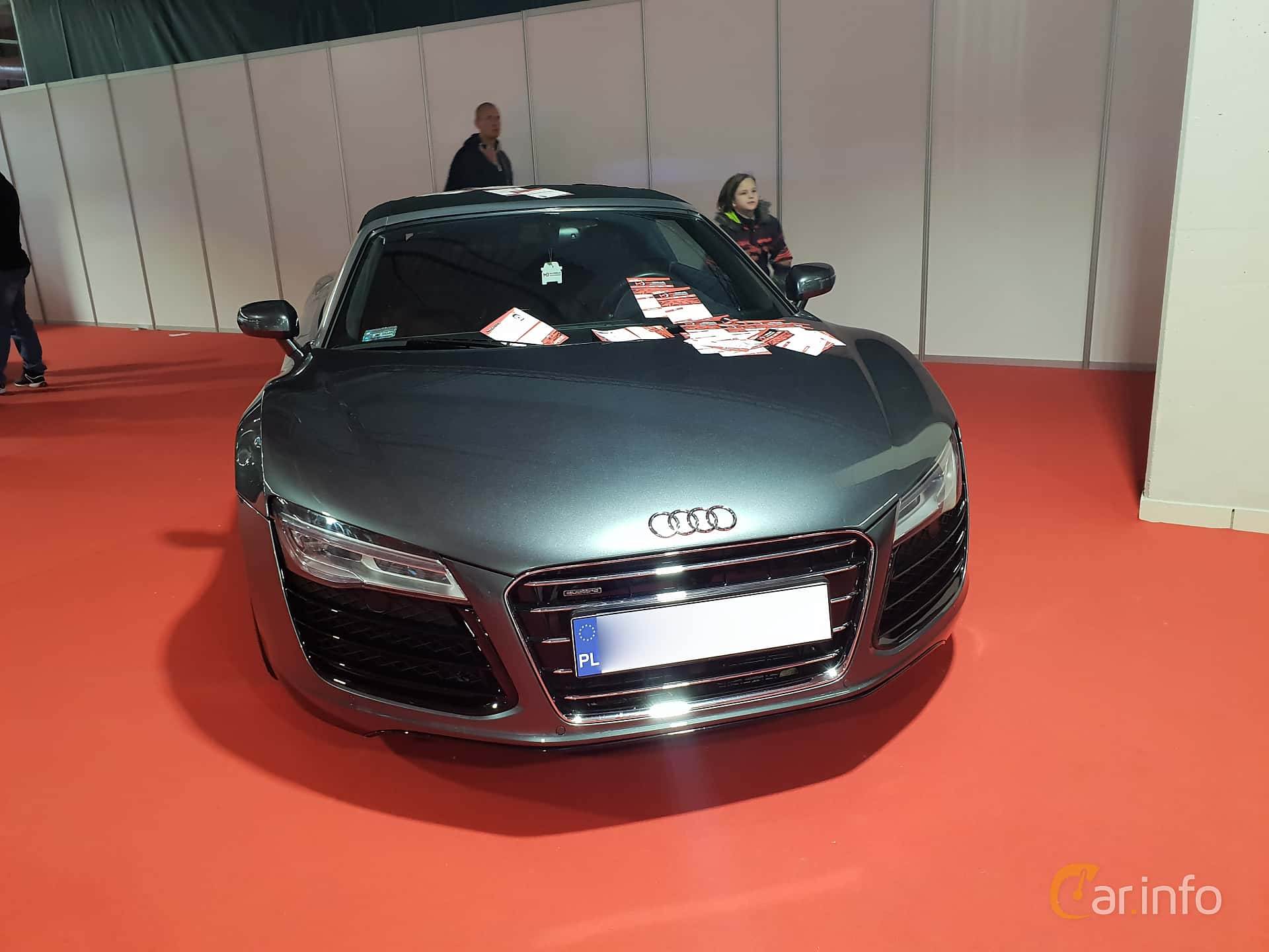 Front  of Audi R8 Spyder at Warsawa Motorshow 2018