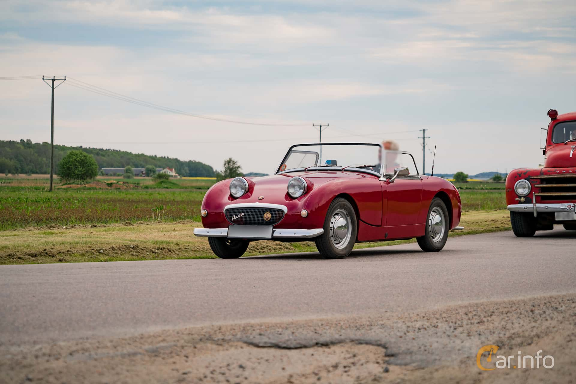 Front/Side  of Austin-Healey Sprite 0.95 Manual, 44ps, 1960 at Tjolöholm Classic Motor 2016