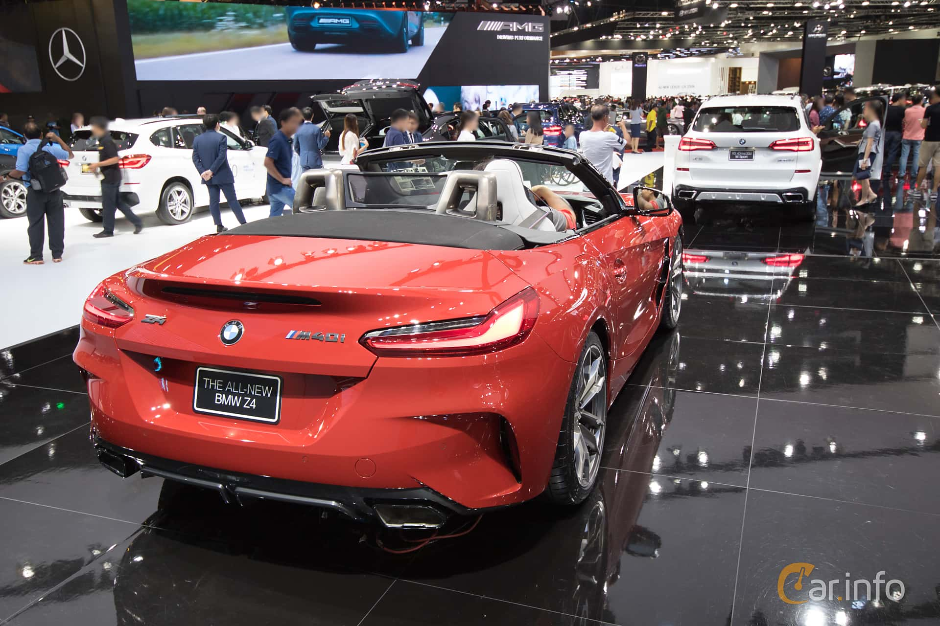 Back/Side of BMW Z4 M40i  Steptronic, 340ps, 2019 at Bangkok Motor Show 2019