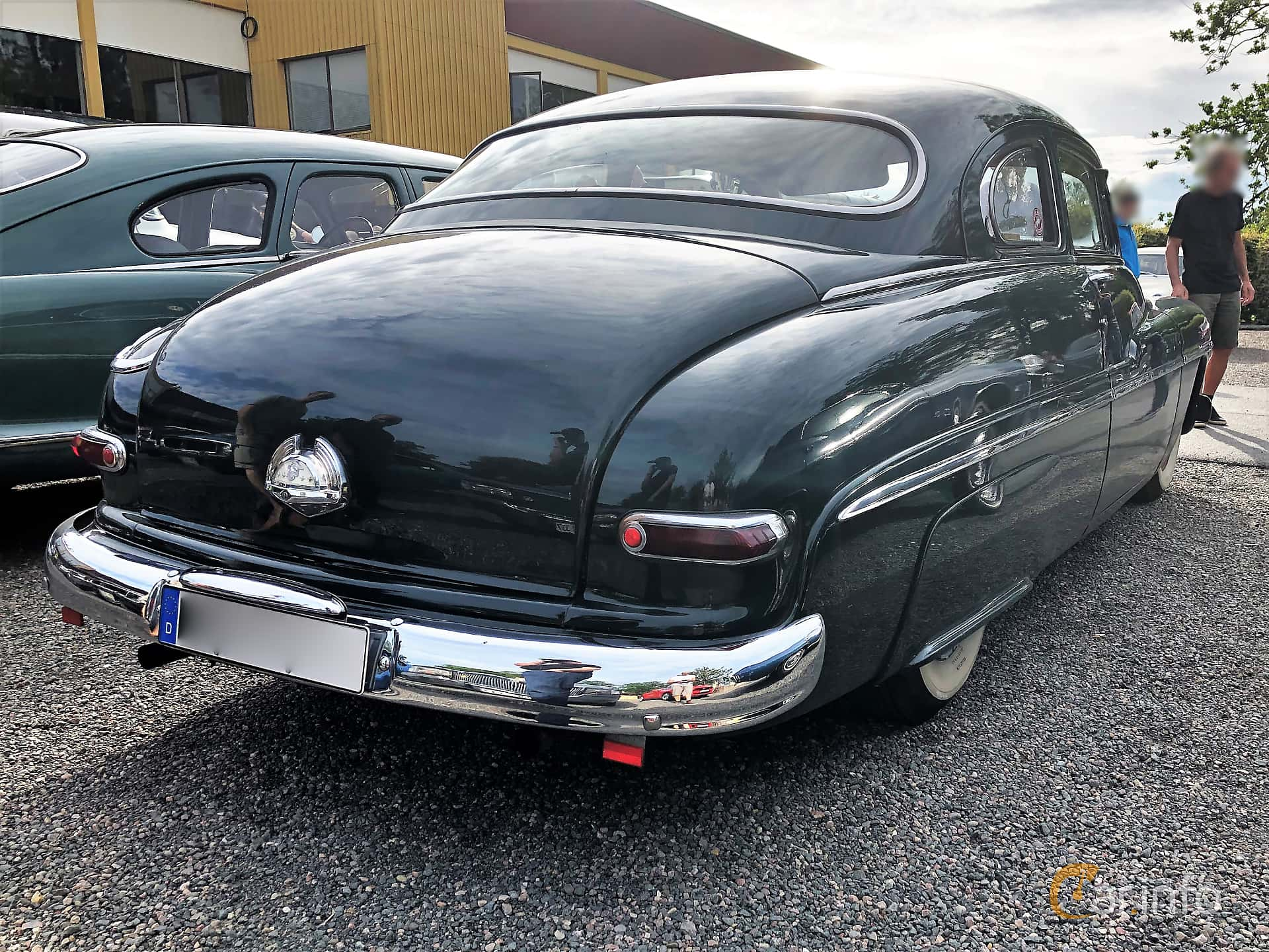 Back/Side of Mercury Eight 0CM Coupé 4.2 V8 Manual, 110ps, 1950 at Bil & MC-träffar i Huskvarna Folkets Park 2019 vecka 32 tema Hot Rods