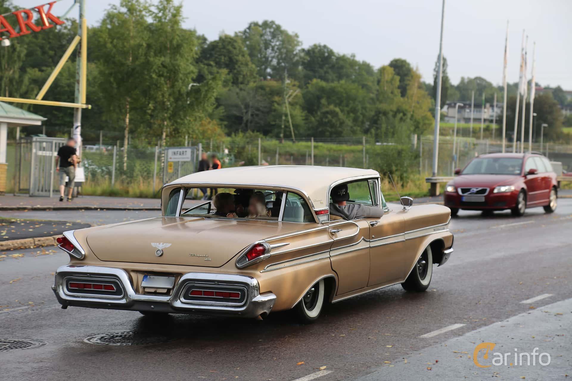 Back/Side of Mercury Turnpike Cruiser Sedan 6.3 V8 Hydra-Matic, 1958 at Bil & MC-träffar i Huskvarna Folkets Park 2019 Amerikanska fordon