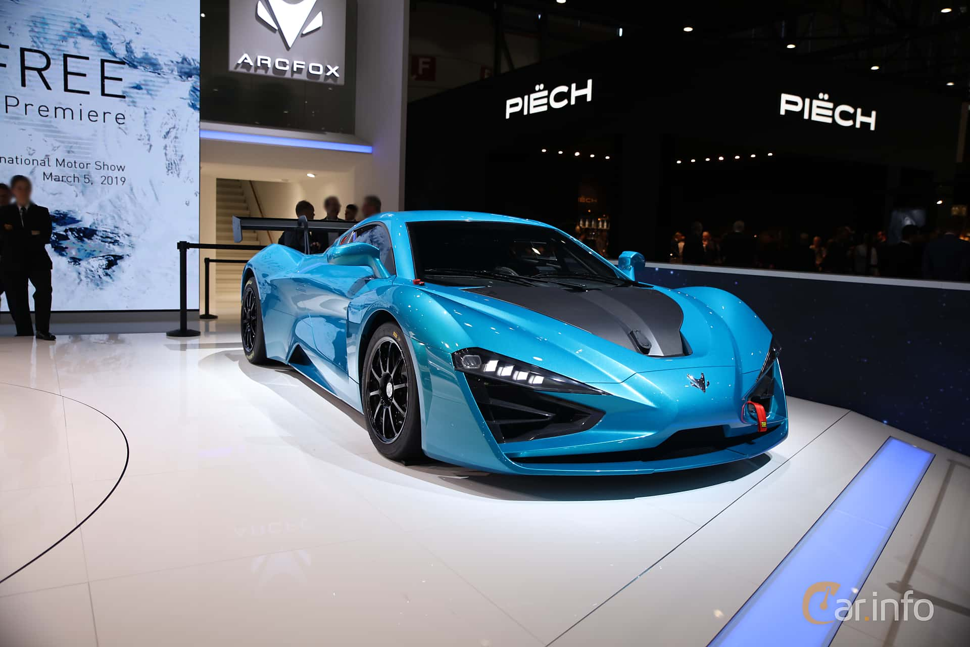 BAIC Arcfox-GT Track Edition Electric Single Speed, 1632hp, 2019 at Geneva Motor Show 2019