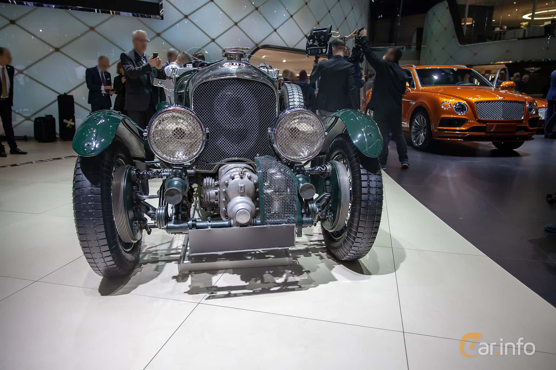 Front  of Bentley 4.5 Litre Cabriolet 4.4 Manual, 110ps, 1930 at Geneva Motor Show 2019