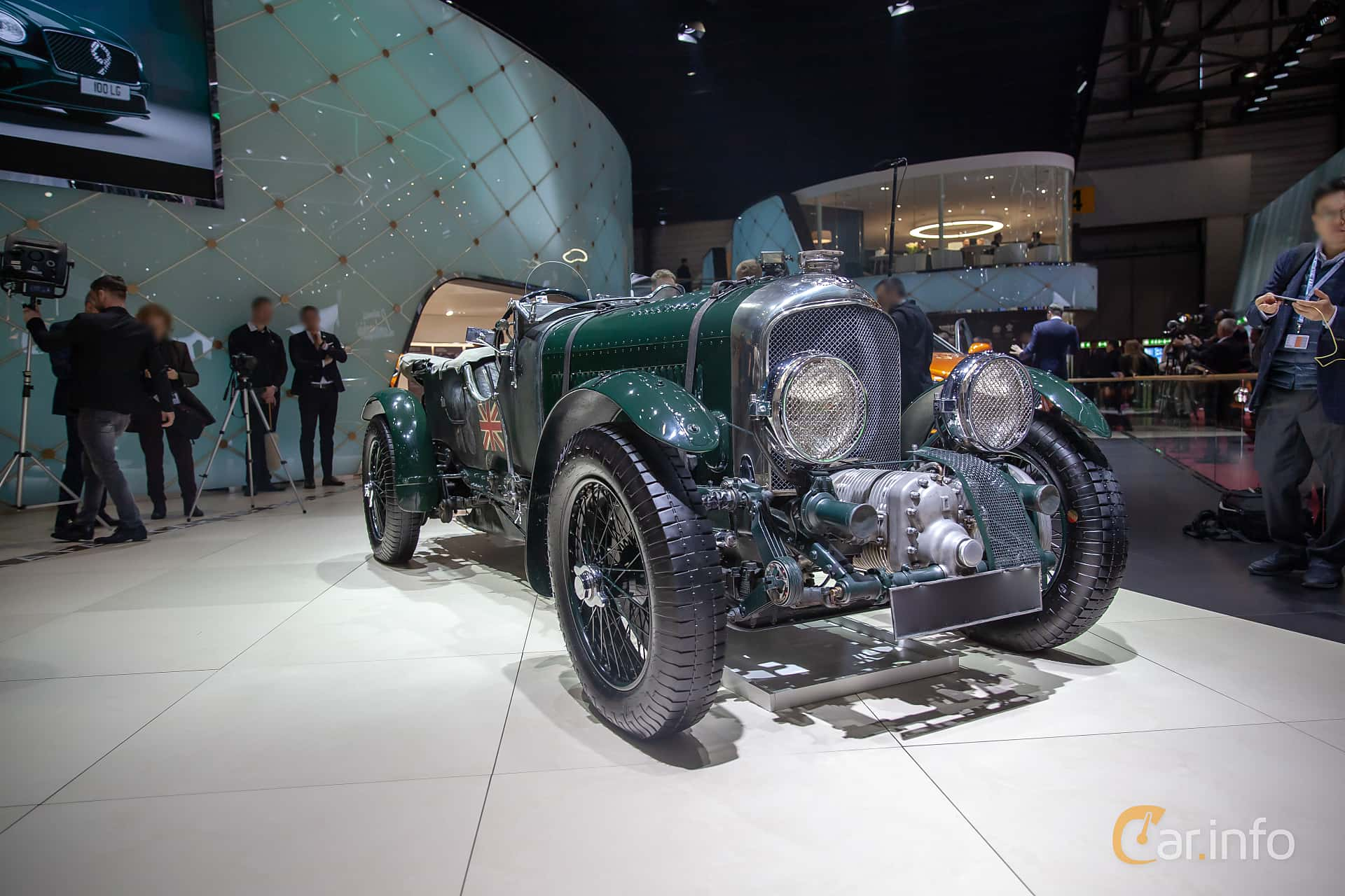 Front/Side  of Bentley 4.5 Litre Cabriolet 4.4 Manual, 110ps, 1930 at Geneva Motor Show 2019